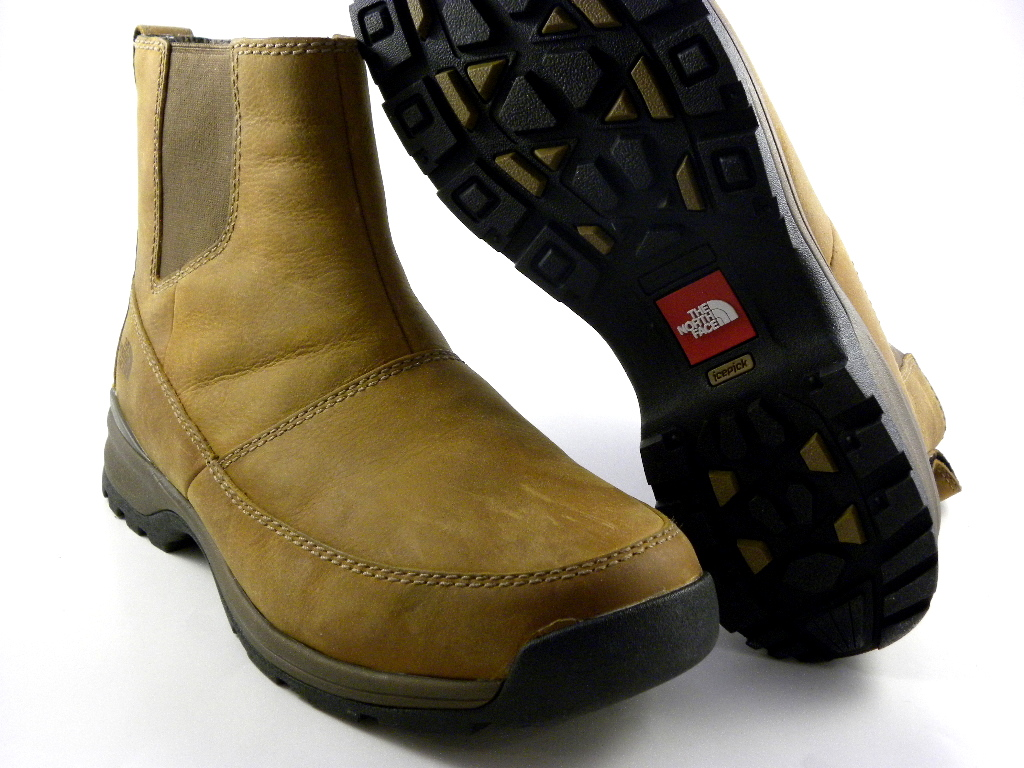 the north face ketchum mid brown leather slip