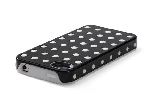 Kensington Combination Case Cover White with Dot for iPhone 4/4S - Black