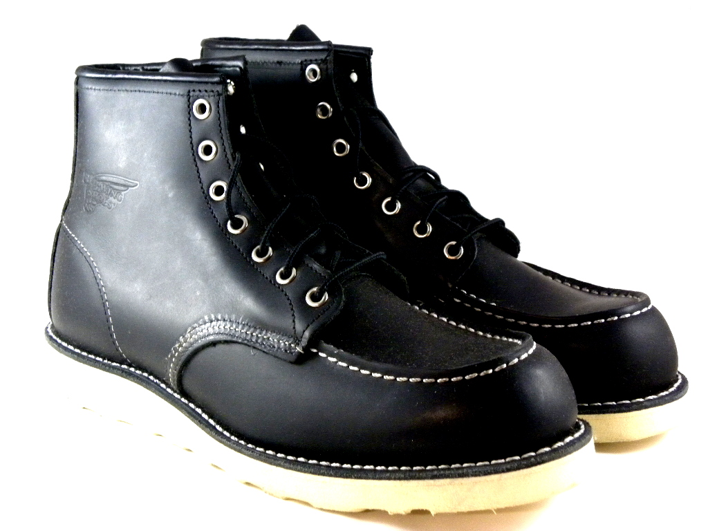 new wing shoes 6 quot classic moc black leather wedge