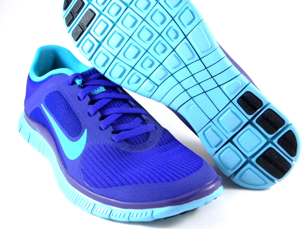 nike free 4 0 v3 sample purple aqua blue running women shoes 580406 540