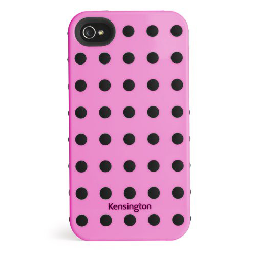 Kensington Combination Case Cover with Black Dot for iPhone 4/4S - Pink