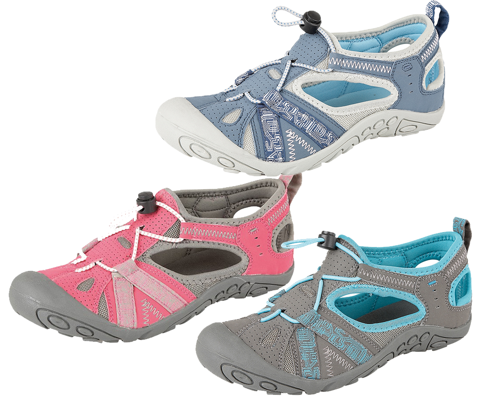 WOMENS NON SLIP WATER PROOF SPORTS ATHLETIC HIKING SANDALS LADIES ...