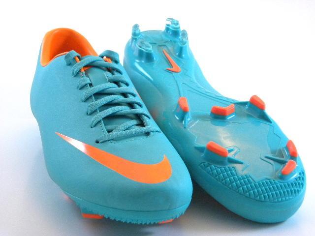 c7695508c Nike Mercurial Victory III FG Retro Green Orange Soccer Cleats Boots ...