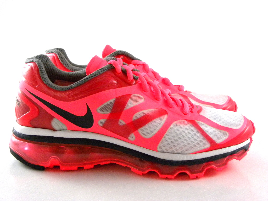 nike air max 2012 hot punch pink red white running gym. Black Bedroom Furniture Sets. Home Design Ideas